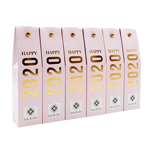 Leo & Lilo Happy 2020, das zauberhafte kleine Geschenk, 6 x Pfingstrosen Handcreme 20 ml in wunderschöner Geschenkschachtel mit Golddruck, Naturkosmetik Made in Germany -