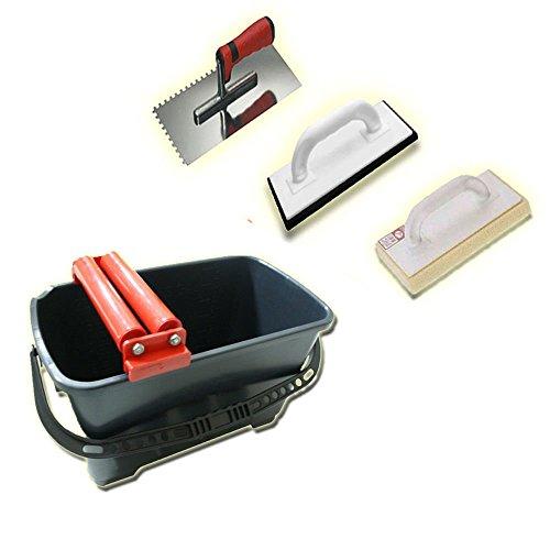 Waschset Cleany 24L Wascheimer Doppelrolle Fliesen einwaschen Set C