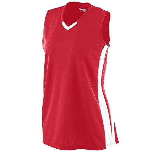 Augusta - T-shirt de sport - Femme Multicolore - Rouge/Blanc