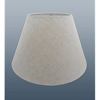 Oxford 6 cream linen clip on candle lampshade