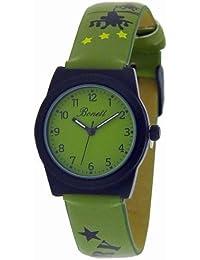 Bonett 1201G–Watch For Children, Leather Strap Green