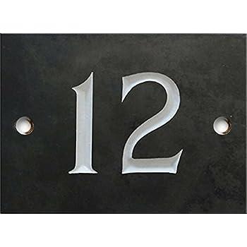 Atlantic Hardware Numéros de maison ardoise - 1 à 99 (sélectionnez votre  numéro ici) - numéro 12 d30540fb16