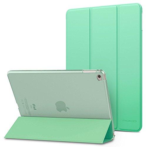 MoKo, Funda para iPad Air 2, Ultra Delgada Función de Soporte, Auto Sueño, Protectora, Plegable, Transparente, 9.7'', Rosa Oro