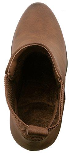 Elara Ankle Boots | Trendige Damen Stiefeletten | Blockabsatz Plateau | Chunkyrayan Khaki 38 - 5