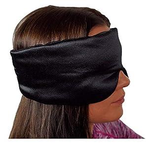 NAPPERBAND Luxuriöse Satin-Augenmaske aus Seide zum Schlafen Atmungsaktive Augenmaske Schlafmaske für Männer oder Frauen. Neues Blackout- und Geräuschverminderungsdesign. Voll verstellbar, komfortabel und leicht. Kostenlose Ohrstöpsel