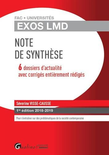 Exos LMD - Note de synthèse par Séverine Visse-Causse
