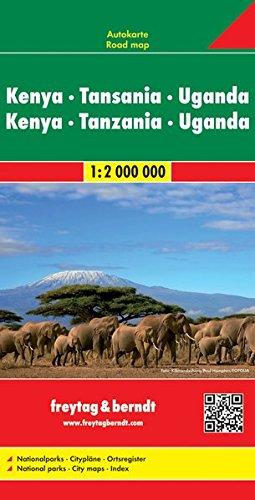 Kenya-Tanzania-Uganda 1:2.000.000: Wegenkaart 1:2 000 000 (Auto karte) por Freytag-Berndt und Artaria KG