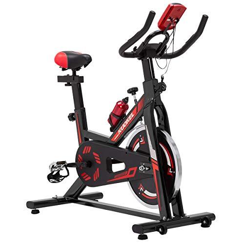 KUOKEL K608 Bicicletta Spin Bike Professionale Allenamento Resistenza Regolabile Bici da Fitness Ergonomica Sellino Regolabili Display Multifunzione Indoor Silenzioso