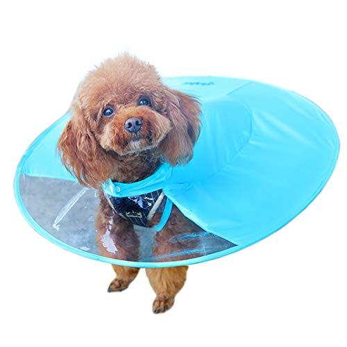 Alfie Pet by Petoga Couture Charon Regenmantel für Hunde, faltbar, UFO-Form, Größe M, Blau -