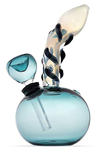 """SigatoTM 6.0"""" Glass Water Pipe Bong with Down Stem : Light Blue : LBB"""