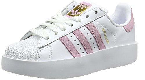 Schuhe Woman Wonder (ADIDAS Damen Superstar Bold W Sneaker, Weiß (Ftwr White/Wonder Pink F10/Gold Met.), 36 2/3)