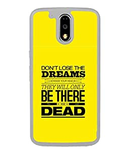 FUSON Designer Back Case Cover for Motorola Moto G4 Plus (Illustration Inspiration Change Motivate )