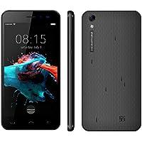 QIUQIONG TAN HOMTOM HT16 8GB Teléfono móvil, Red: 3G, 5.0 Pulgadas Android 6.0 MTK6580 Quad Core 1.3 GHz, RAM: 1GB (Color : Negro)