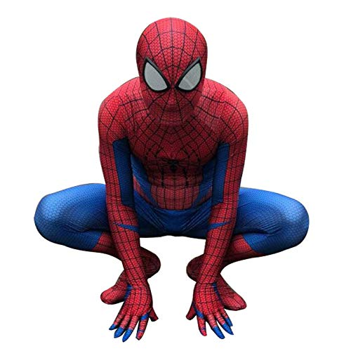 ASJUNQ Erstaunliche Spider-Man Halloween Performance Kostüm Cosplay Anime Anzug Strumpfhosen Kind Erwachsene Kostüm Party Thema Party Movie Requisiten,Adult-XXXL
