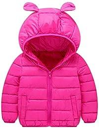 K-Youth Niños Abrigo de Algodón Invierno Grueso Abajo Chaqueta con Capucha Trenca Abrigo para Niñas Ropa Niño Abrigo Bebe Niña Otoño Jacket Parka para Niños