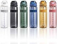 Bottiglia Acqua Plastica Riutilizzabile Termica con Paglia 850ml Piccolo Grande per l'acqua a Prova di per