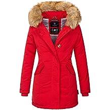 Marikoo Damen Winter Jacke Parka Mantel Winterjacke warm gefüttert B362 7f341f6140