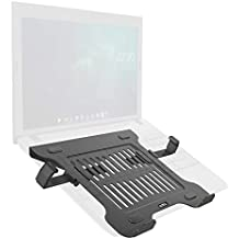 Umi. Essentials Lockable Portable Laptop Desk Stand/Monitor Riser with Retractable Side Clip