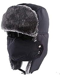Cappello da Bombardiere Russo con Aviatore Urbano Classico Trooper Winter  Facile Warmer con Paraorecchie Maschera e0b17d17c062