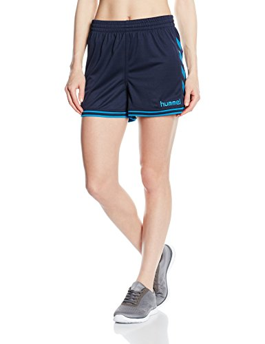 Hummel Damen Sirius Shorts, Total Eclipse/Methyl Blue, S