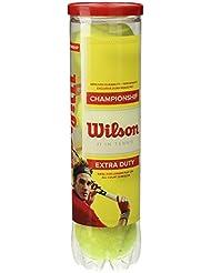 Wilson Championship Extra Duty 4Tball - Lata para pelotas de tenis, color amarillo, talla única