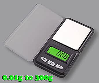 Gadget Hero's Digital Gold Weighing Scale 0.01g to 300g. Displays Units in G, OZ, TL, CT. GN With Tare.