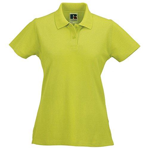 Womens Russell-Polo da uomo in cotone Lime
