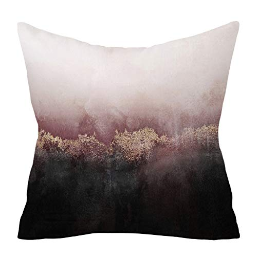 KonJin Kissenbezug Mode grau Kissenbezug Sofa Auto Taille Throw Kissenbezug Home Decor Qualitäts Kissenhüllen in Segeltuch mit Geometrischen Mustern 45 X 45 cm