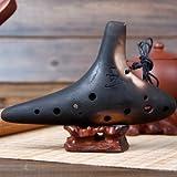 Qualität Chinesische Keramik Flöte Ocarina Instrument 12 Löcher Retro Style