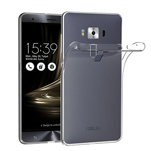 ivoler Hülle Case Kompatibel für Asus Zenfone 3 Deluxe ZS570KL 5.7 Zoll, Premium Transparent Klare Tasche Schutzhülle Weiche TPU Silikon Gel Handyhülle Schmaler Cover Deluxe Soft Case