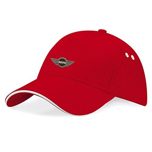 Stickerei Plus Mini Bestickte Baseball Cap Mütze -k112 (Rot) Mini-cap