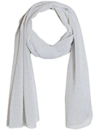 Swan Soothing Polka Dot Print Scarf For Women