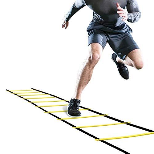 LOVEQIZI Professionelle Beweglichkeit Leiter Tempo Geschwindigkeit körperliches Training Leiter Sprungleiter Springseil Leiter Fußball Registerkarte Leiter
