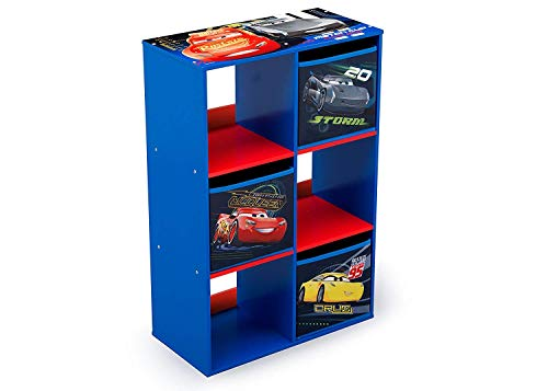 Familie24 Spielzeugregal Auswahl Cubby Regal Kinderregal Spielzeugkiste Wandregal Toy Box Spielzeugkiste (Cars) -