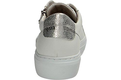 Gabor  64.314.21, Chaussures de ville à lacets pour femme blanc Weiß Weiss/Ice