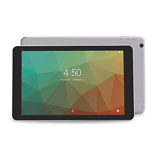 Yuntab A108 Tablet de 10.1 pulgadas android 7.1 A64 Quad Core, 1GB + 16GB, doble cámara, Wi-Fi, juegos. (Plata)
