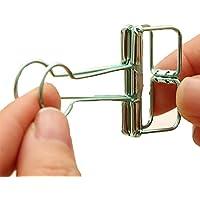 3X Toruiwa Clips de Colores Metal Paper Binder Clip de cola hueco Clips papel Pinza abatible Pinza sujetapapeles Clips de alta resistencia Adecuado para el aprendizaje diario y el uso de la oficina 3.2*5.6cm