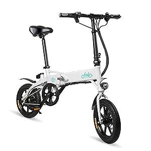 41taZZTrrRL. SS300 FIIDO D1 Ebike, Bicicletta elettrica pieghevole per adulto, Bicicletta elettrica pieghevole con ruote da bici da 250W 7…