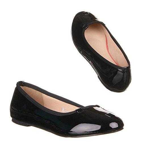 Chaussures, 50792, ballerines femme Noir - Noir