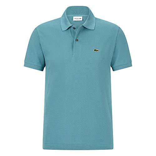 Lacoste L1212 Herren Polo Shirt Kurzarm,Männer Polo-Hemd,2 Knopf,Regular Fit,Tide Blue 1(S6T),X-Small (2)
