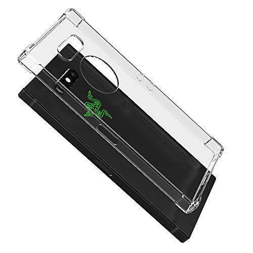 Eastcoo Razer Phone 2 Hülle, Transparent Weiche Silikon TPU Crystal Clear Durchsichtige Rückschale Schutzhülle Handyhülle Case Cover für Razer Phone 2 (Transparent)