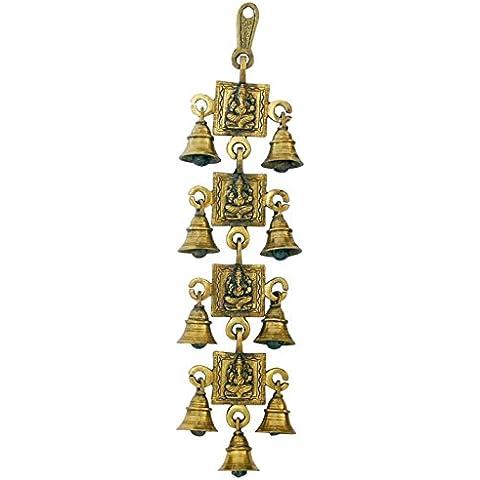 Ganesha campanelli appesi - ottone da collezione