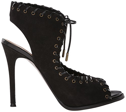 Nove in pelle occidentale Hotstuff tacco del sandalo Black/black