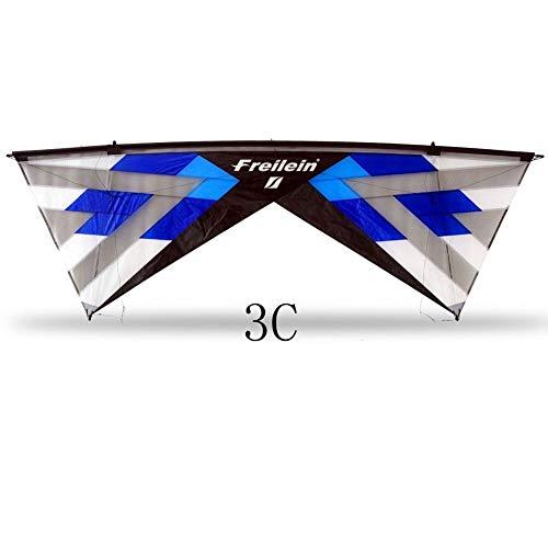 ZSYF Drachen Kite Quad LineLenkdrachenFür Erwachsene, Die Outdoor-Sport-Belüfteten Stranddrachen Fliegen. Mit 25M Flugleine Und Griffen
