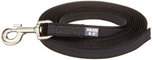 Artikelbild: JULIUS-K9, 216GM-5 Color & Gray gumierte Leine, 20 mm x 5 m ohne Shlaufe, maximal für 50 kg Hunde, schwarz-grau