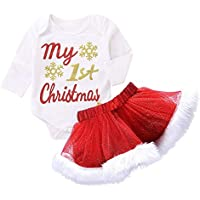Sallydream Cosplay Cumpleaños Vestido de Princesa Conjunto de Trajes de Falda de tutú de Mameluco navideño de Navidad para bebés recién Nacidos