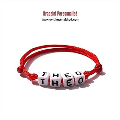 Bracelet THEO personnalisé avec prénom (réversible) homme, femme, enfant, bébé, nouveau,né.