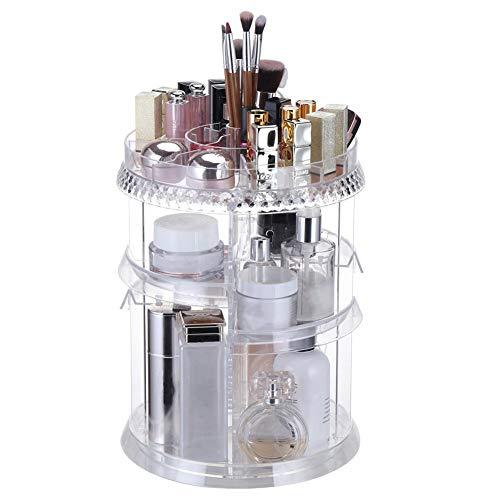Organiseur De Maquillage Rotatif Cadre De La Boîte 360 Degrés Rotation Cosmétique Boîte De Stockage Vitrine Parfait pour Les Femmes