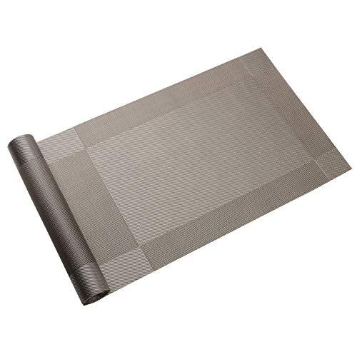 Homcomodar Tischläufer Waschbar Hitzebeständig PVC Esstisch Läufer 30x180cm