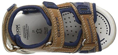 Geox B Sandal Agasim Boy A, Chaussures Marche Bébé Garçon Beige (CARAMEL/NAVYC5GF4)